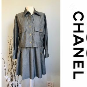 Authentic Chanel set . Jacket and skirt